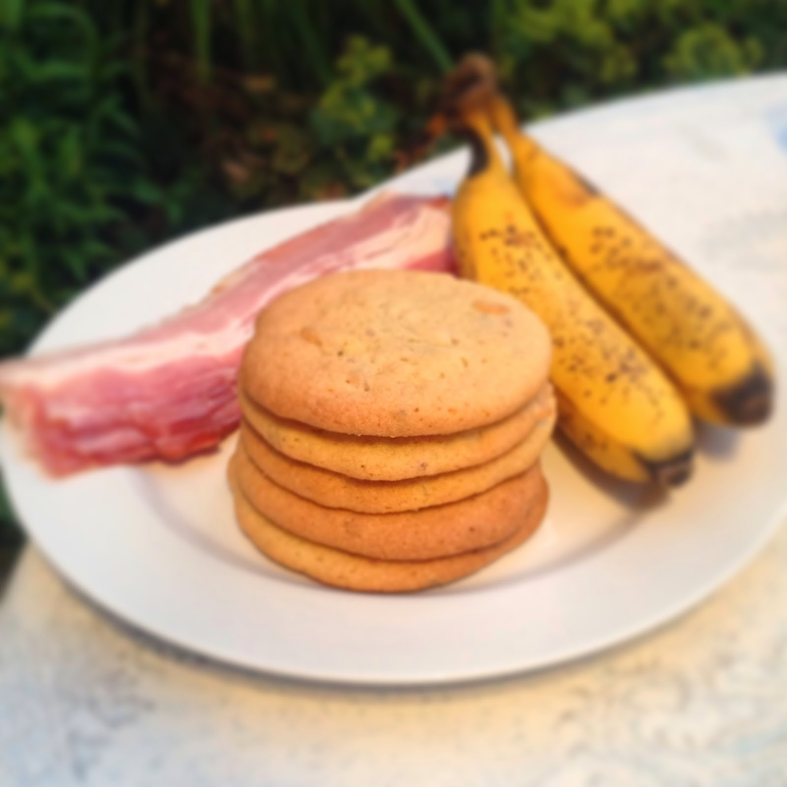 photo of bacon and banana cookies
