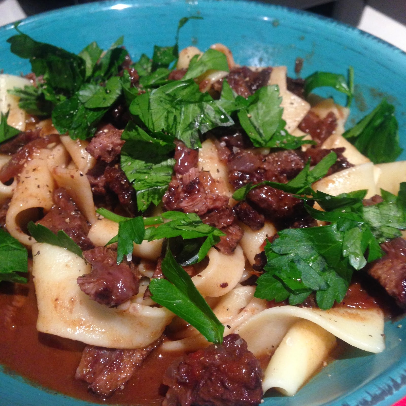 Braised Beef Cheeks with Pappardelle